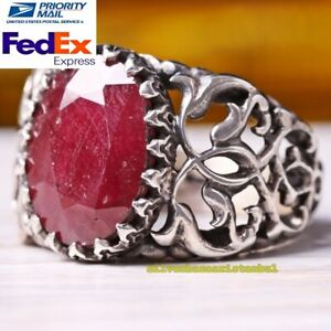 handmade ruby red ring