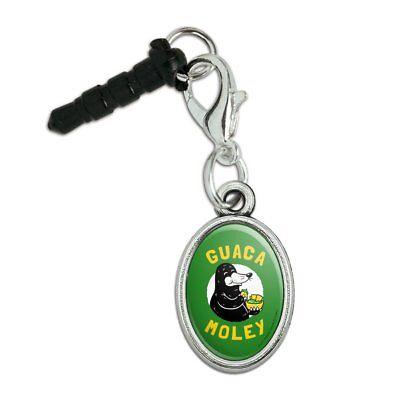 100% Kwaliteit Guaca Moley Mole Eating Guacamole Funny Mobile Phone Headphone Jack Oval Charm
