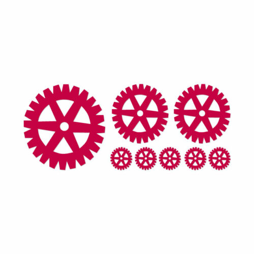 Decal Sticker Set of Steampunk Gears Multiple Color /& Sizes ebn339