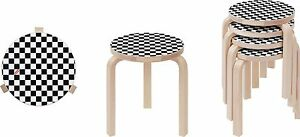 Swell Details About Supreme X Artek Aalto Stool 60 Checkerboard Black White Box Logo Camp Cap S S 17 Creativecarmelina Interior Chair Design Creativecarmelinacom