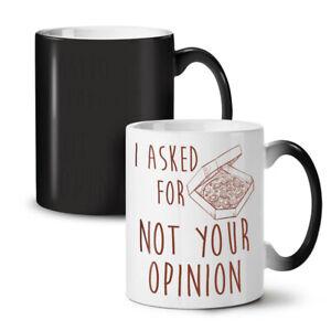 Asked Pizza Opinion NEW Colour Changing Tea Coffee Mug 11 oz   Wellcoda