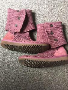 Australia Purple pink Knitted Boots Genuine Uk4 Ugg 5 AxOqWfEY