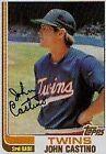 1982 Topps John Castino #644 Baseball Card