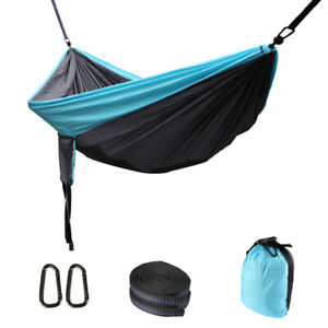 Camping Hammock Double 2 Person Tent Portable Parachute Nylon Outdoor Travel Bed