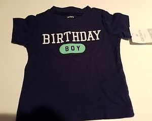 Image Is Loading Infant Boys Carters Brand Navy Blue Birthday Boy