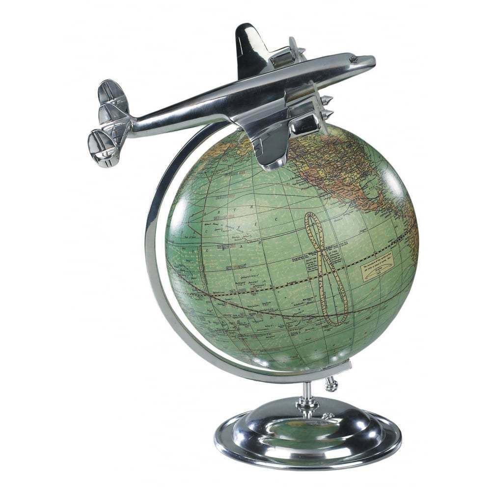 Authentic Models On Top Of The World Globe and Model