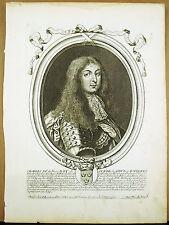Charles XI Roi de Suède Gotz Wandales King of Sweden s DE LARMESSIN Gravure XVII