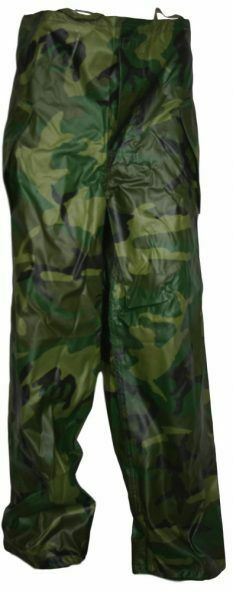 Strong-Willed Military Issued Woodland Wet Weather Trousers-new