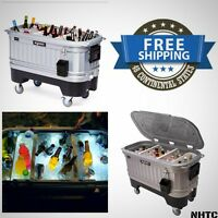 Igloo Ice Chest 125 Quart Party Ice Cooler Bar Cooler Liddup Illuminated Cooler on sale
