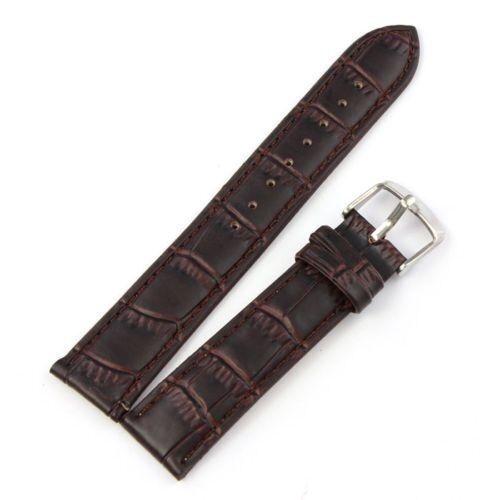 Cinturino In Pelle Universale Ricambio Per Orologio Larghezza 14mm Marrone lac