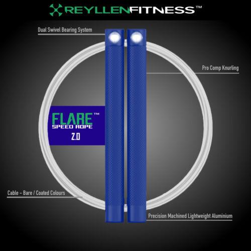 Flare™ 2.0 CrossFit UK Pro Comp Speed Jump Rope Rpm Sgf Skipping Training WOD UK
