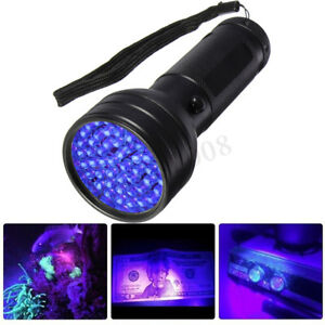 51-LED-UV-Lumiere-Ultraviolette-Noire-Lampe-de-Poche-Torche-Scorpion