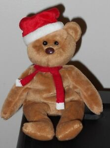 NT  Ty Beanie Baby ~ 1997 HOLIDAY TEDDY the Bear (8.5 Inch) NO HANG ... 759a28bf55f0
