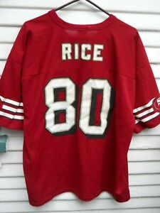 San Francisco 49ers Jerry Rice 80 Football Jersey Size 48 X Lg By Logo 7 Ebay