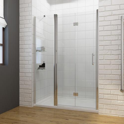 Frameless Hinge Bifold Framed Pivot Shower Door 1000-1400mm Screen Glass
