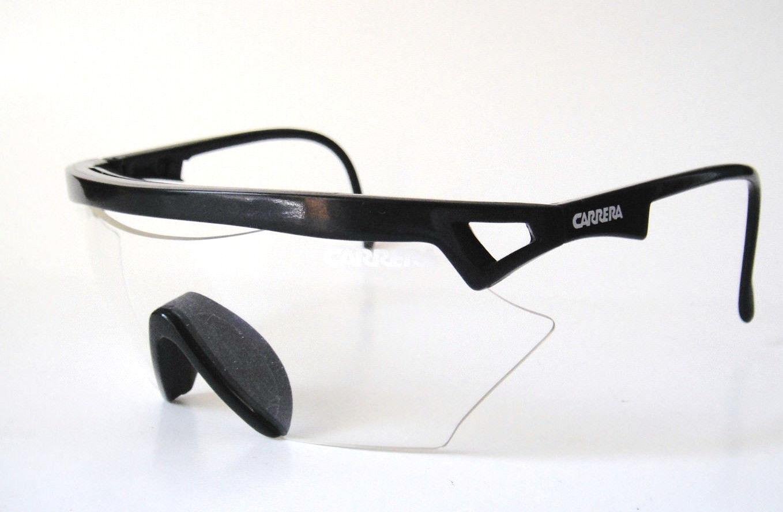 Carrera Austria Medium NOS Shield Clear Sunglass Mens Bike Surf Cycling Goggles