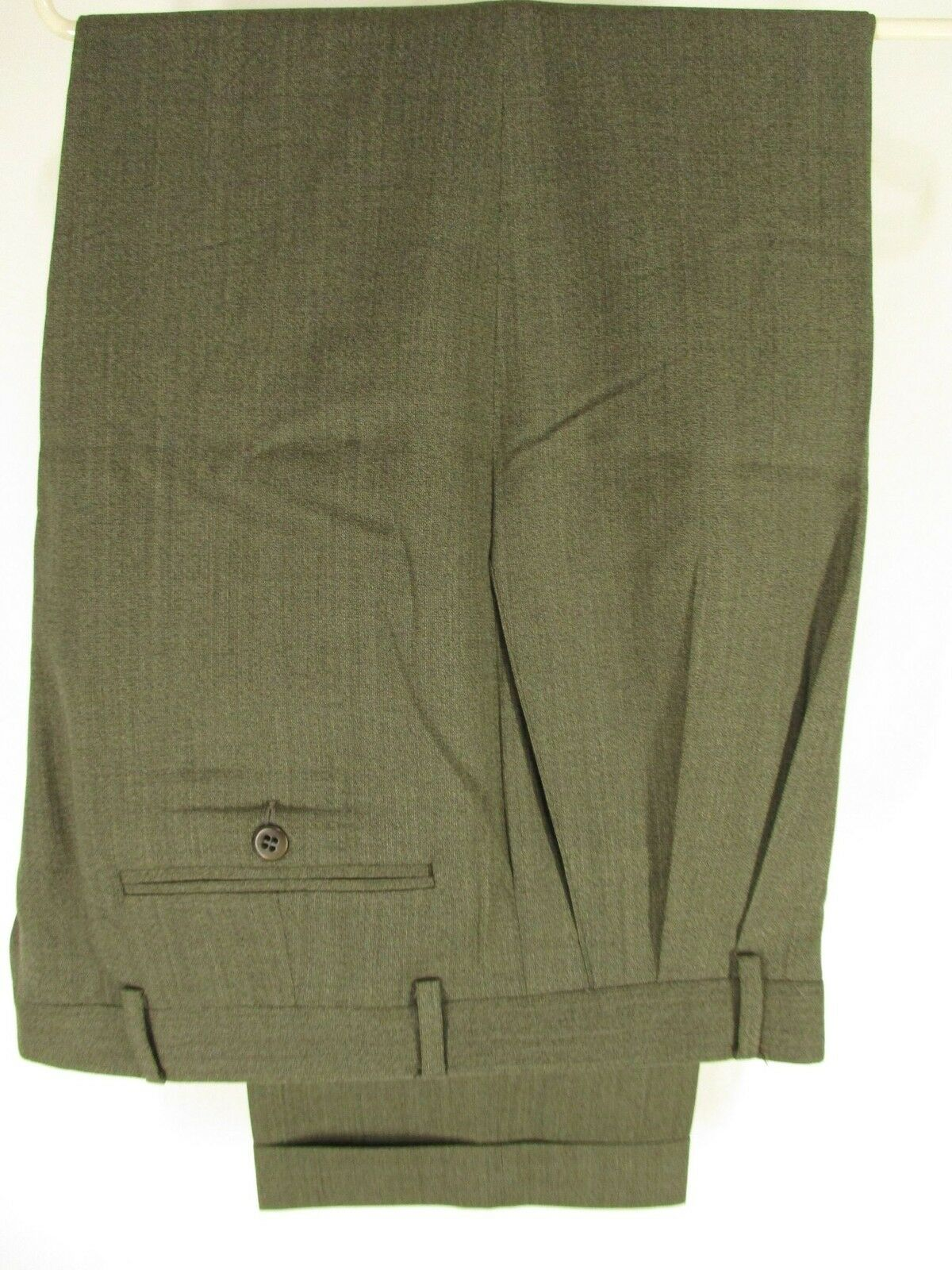 Zanella Austin Mens Grey Pleated Wool Dress Pants Size 33 34x29.5