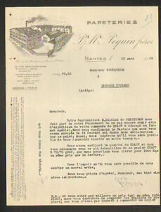 NANTES-44-USINE-de-PAPETERIES-034-P-amp-M-PEQUIN-Freres-034-en-1929