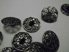 25 Metal Hollow Carved 18mm Sew Craft Clothes Shank Buttons  - Buy 3 Get 1 FREE