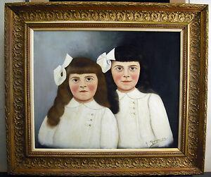 Agressif H Méponte 1915 Fillettes Strange Girls Idem Douanier Henri Rousseau Art Naïf