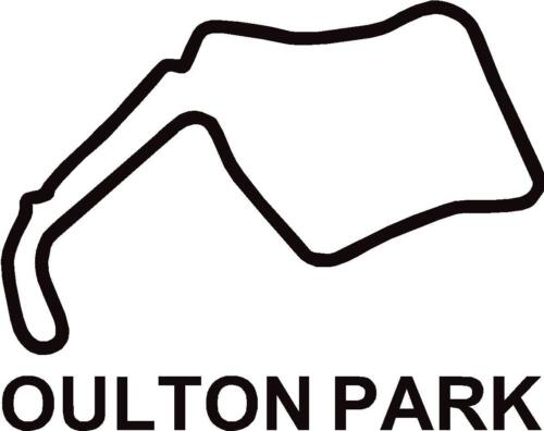 "x2 Oulton Park GP Circuit Race Track Outline Vinyl Decals Stickers Graphics 4/"""