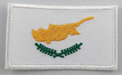 REPUBLIC OF CYPRUS CYPRIOT NATIONAL FLAG Sew on Patch Free Postage