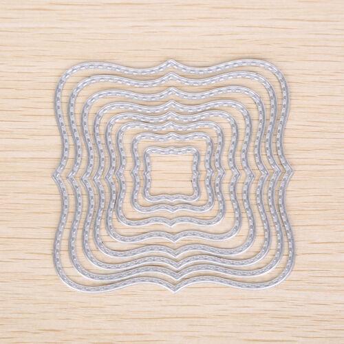 Quadratische Metall DIY Stanzformen Schablone Scrapbook Karte Relief Craft AB