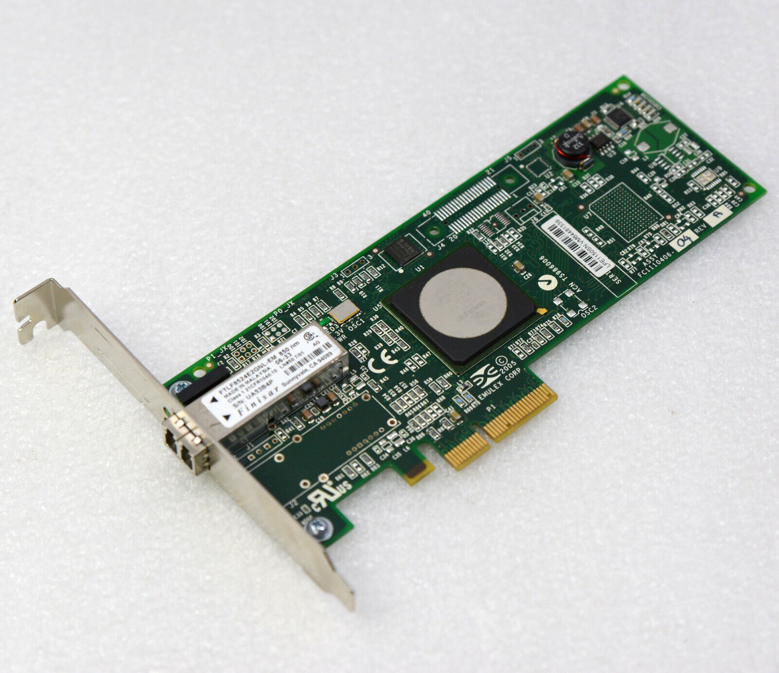 4GBit Network Card Fibre Channel Pci-E FC1120005-04A A8002-60001 Lancard #NW5 MM