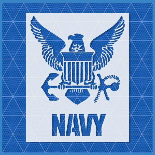 "Navy Eagle Anchor Stencil US U.S USA Reusable Mylar 14/""x11/"" 11/""x8.5/"" 5/""x4/"""