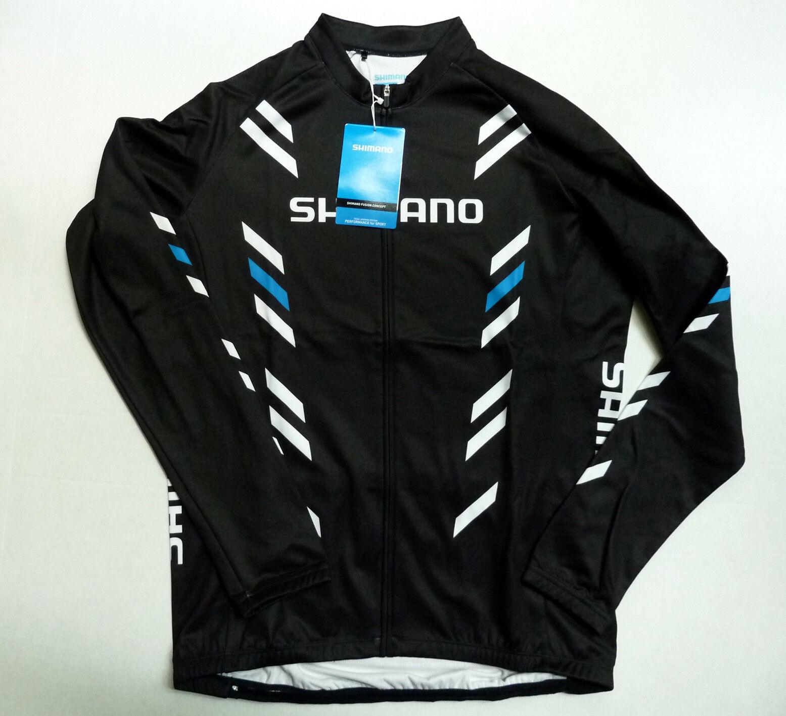 New Men`s Men`s Men`s Shimano Thermal Print Long Sleeve Jersey fc7ff1