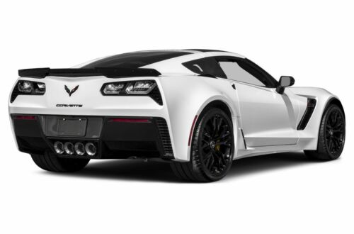 2016 Chevy Corvette Z06 White POSTER 24 X 36 INCH REAR SIDE