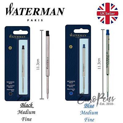 Waterman Ballpoint Ball Pen Refill ALL COLOURS /& NIB WIDTHS AVAILABLE