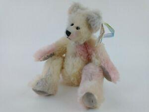 Sally Winey Rainbow Pastel Mohair Bear Arianna Sally Ann Designs 2000 w/ Tags B2