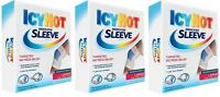3 Pack Icy Hot Maximum Strength Medicated Sleeve Ankles Elbows Knees, Large 3 Ea on sale