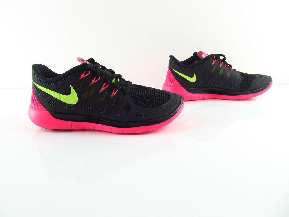 Nike wmns Free 5.0 noir volt hyper pink fonctionnement Bearfoot New EUR 36.5 38-