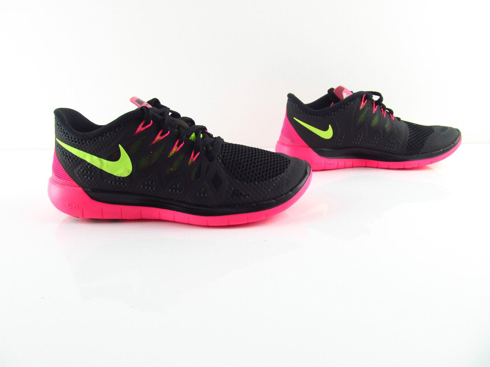 Nike Wmns Free 5.0 Black Volt Hyper Pink Running Bearfoot New Eur 36.5 38