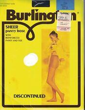 Burlington Sheer Pantyhose w/ Reinforced Toe & Panty NAVY Small VINTAGE NIP