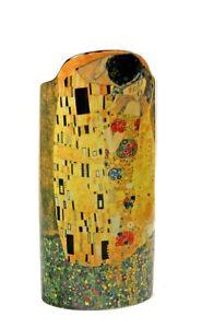 Klimt-The-Kiss-Lovers-Embrace-Yellow-Gold-Ceramic-Flower-Vase-by-Klimt-9H