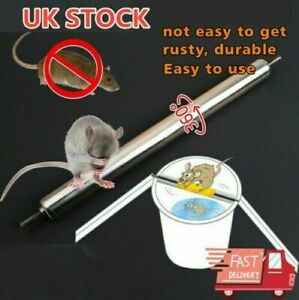 Stainless-Steel-Mouse-Rats-Log-Roll-Trap-Grasp-Bucket-Rolling-Trap-Rod-UK-STOCK