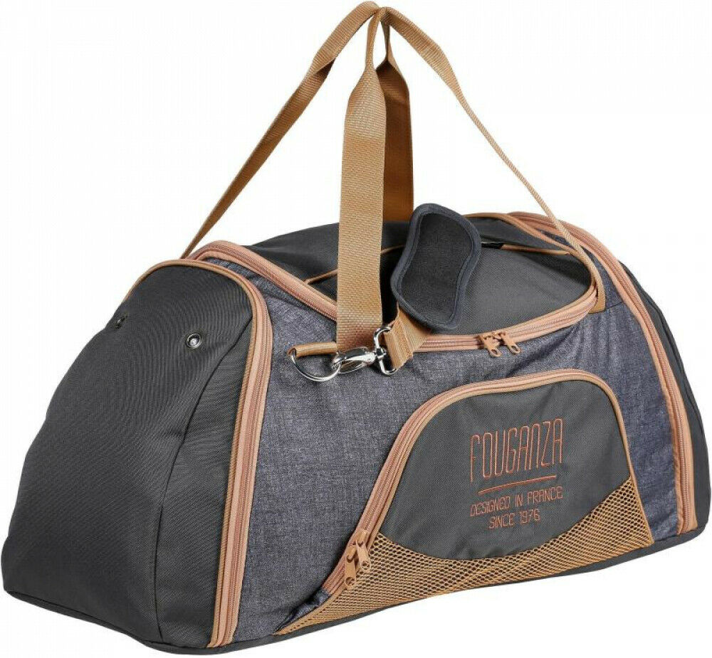 BEST PRICE Duffle Horse Riding Equipment Bag 55L - Grey Camel