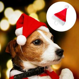 Christmas-Pet-Santa-Hat-Puppy-Small-Cat-Dog-Xmas-Holiday-Costume-Ornaments-UK-yu