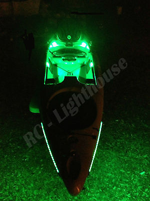 Bass Boat Kayak Canoe Bow Lights Fully Submersible LED Navigation Lights 8 Inch