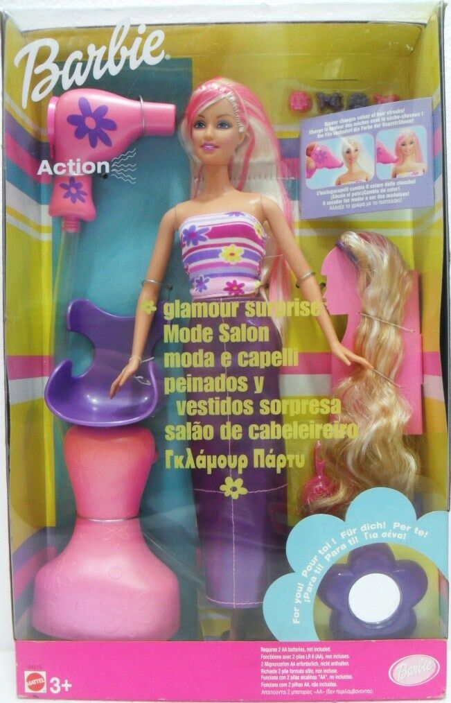 MATTEL 54215 BARBIE -   Barbie moda e capelli   presentando tutte le ultime tendenze della moda
