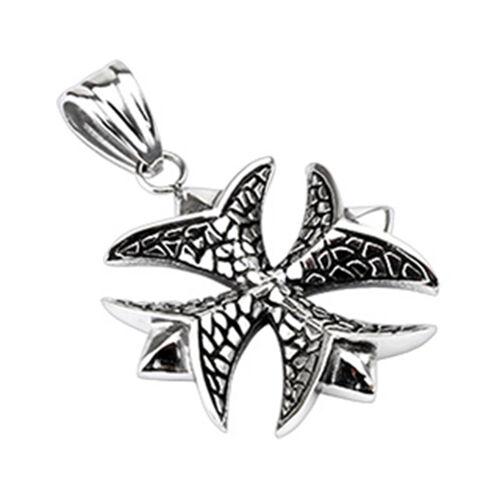 Remolque de acero inoxidable collar Iron Cross hierro cruz celtas heavy metal plata