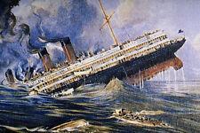 756009 Titanic Sinks A4 Photo Print