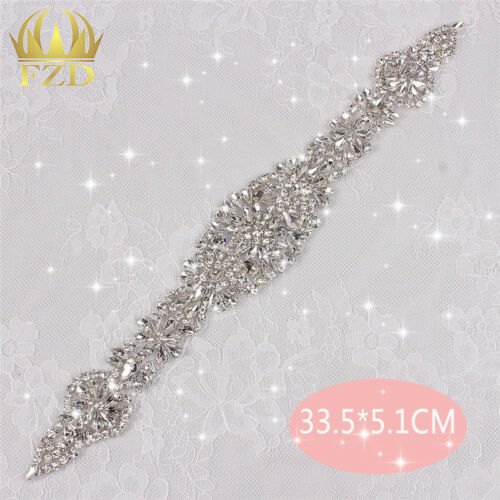 Fashion Wedding Dress Sash Rhinestone Applique DIY Bridal Wedding Crystal Belts