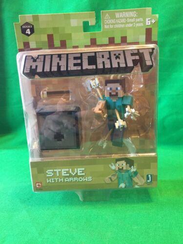 Minecraft Series 4 Steve with Arrows Jazwares Mojang 2018 Action Figure MC
