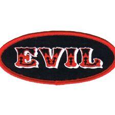 RED DEVIL EMBROIDERED PATCH SATANIC EVIL LUCIFER SATAN IRON-ON SKULL EVIL 666