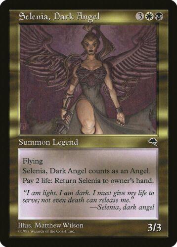 Dark Angel Tempest NM-M White Black Rare MAGIC GATHERING CARD ABUGames Selenia