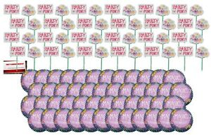 My Little Pony Magic of Friendship Cake Cupcake Toppers Deluxe Pack (48 Picks...